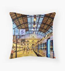 Estació de França (P1080745-P1080747 _Qtpfsgui _Photofiltre) Throw Pillow