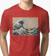 Weinleseplakat - die große Welle vor Kanagawa Vintage T-Shirt