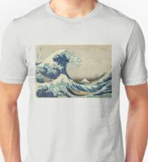 Weinleseplakat - die große Welle vor Kanagawa Slim Fit T-Shirt