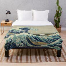 Manta Cartel vintage - La gran ola de Kanagawa