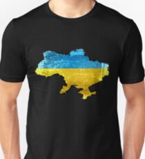 Ukraine Flag and Map T-Shirt