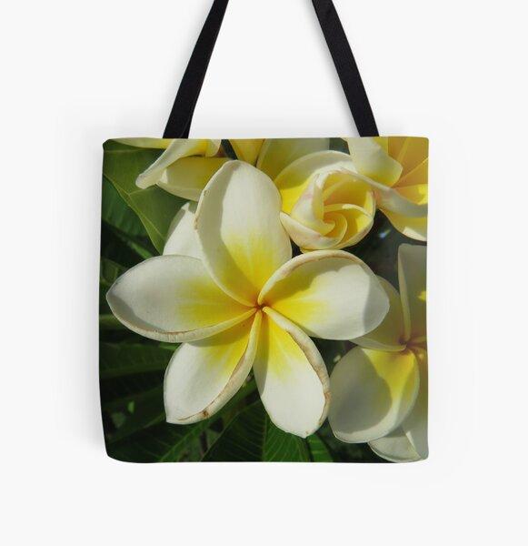 Frangipani All Over Print Tote Bag