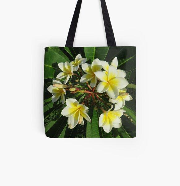 Frangipani bouquet All Over Print Tote Bag