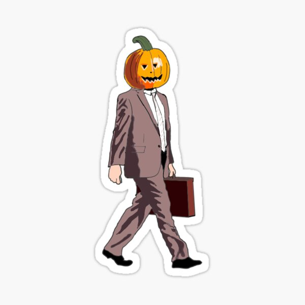 Dwight Pumpkin Head Sticker