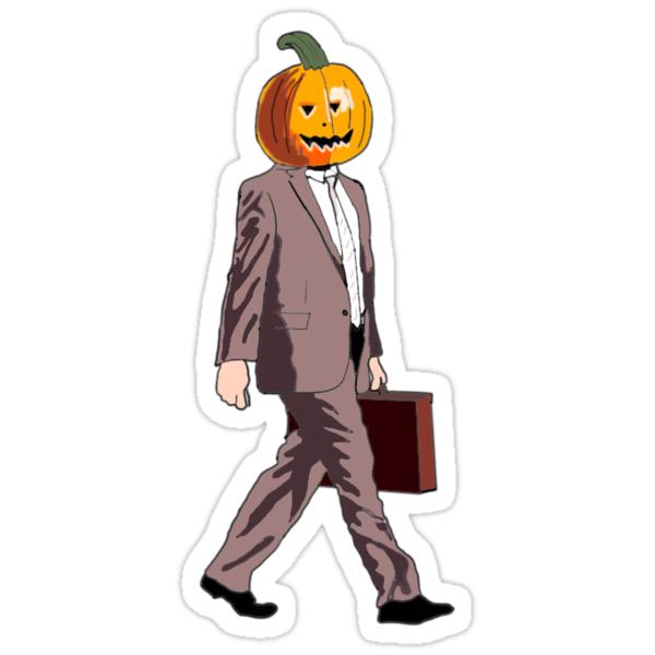 Quot Dwight Pumpkin Head Quot Stickers By Havannarox Redbubble