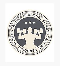 Personal Fitness Trainer Gym Workout Active Wear Design Photographic Print