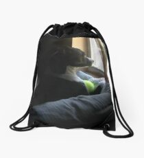 Epona in Deep Thought Drawstring Bag