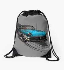 Car Retro Vintage Design Drawstring Bag