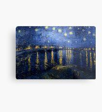 Lienzo metálico Vincent van Gogh - Noche estrellada sobre el Ródano