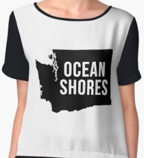 Ocean Shores, Washington Silhouette Chiffon Top
