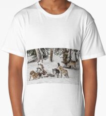 Wolf Hide and Seek Long T-Shirt