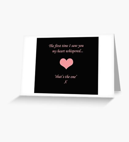 Heart Whispers Greeting Card