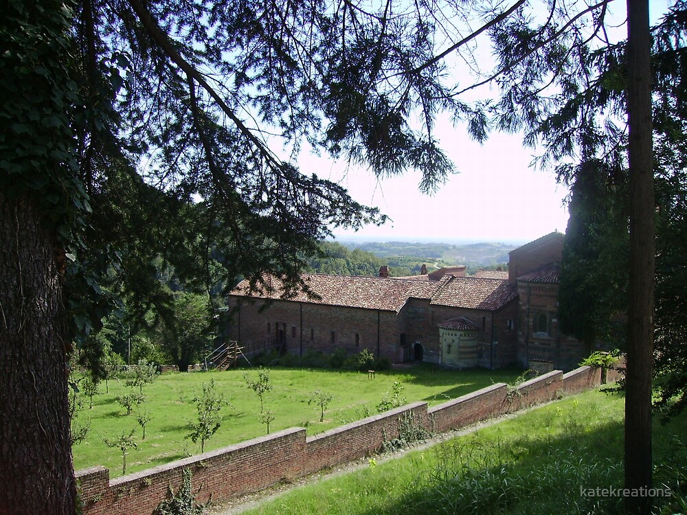 A back view of Vezzolano Abbey in northern Italy by katekreations