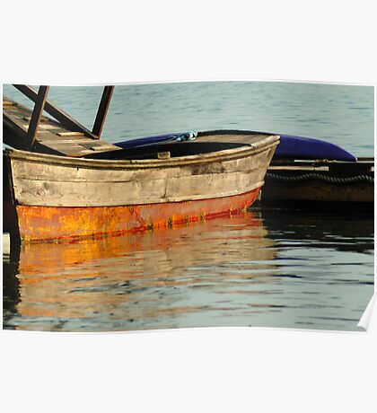 Boat, Maine Harbor Poster