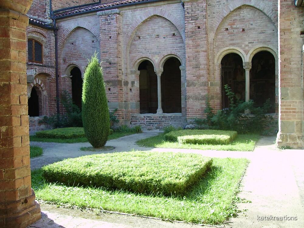 Garden Vezzolano abbey by katekreations
