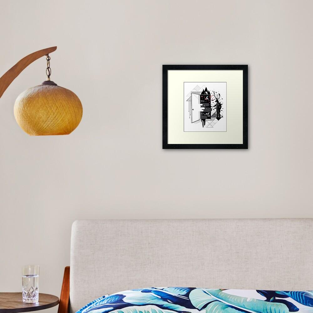 Take it or dream it Framed Art Print