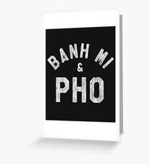 Banh Mi & Pho Shirt for Vietnamese Food Lovers Greeting Card