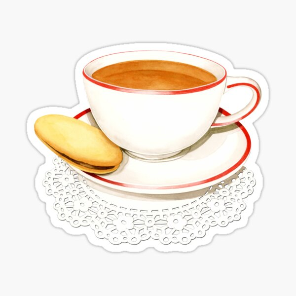 Cup of Tea and a biscuit! Sticker