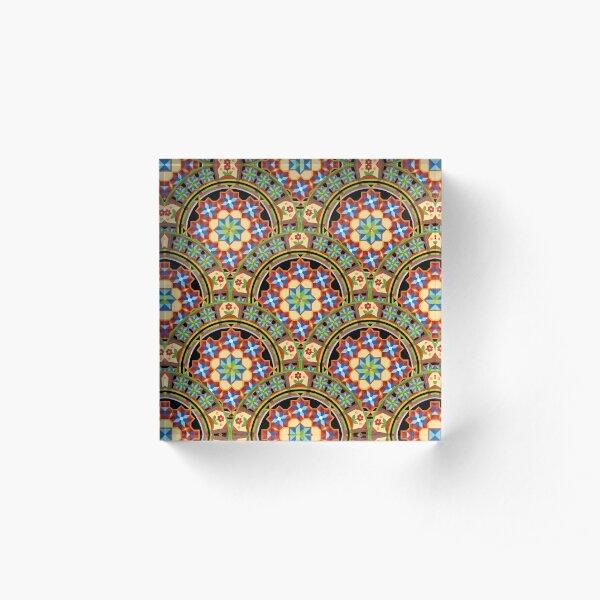 Westminster Mandala Design Acrylic Block