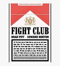 Rules of Fight Club Photographic Print