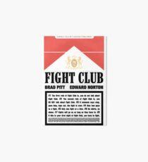 Rules of Fight Club Art Board