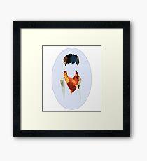 Merlin Crystallised Silhouette  Framed Print