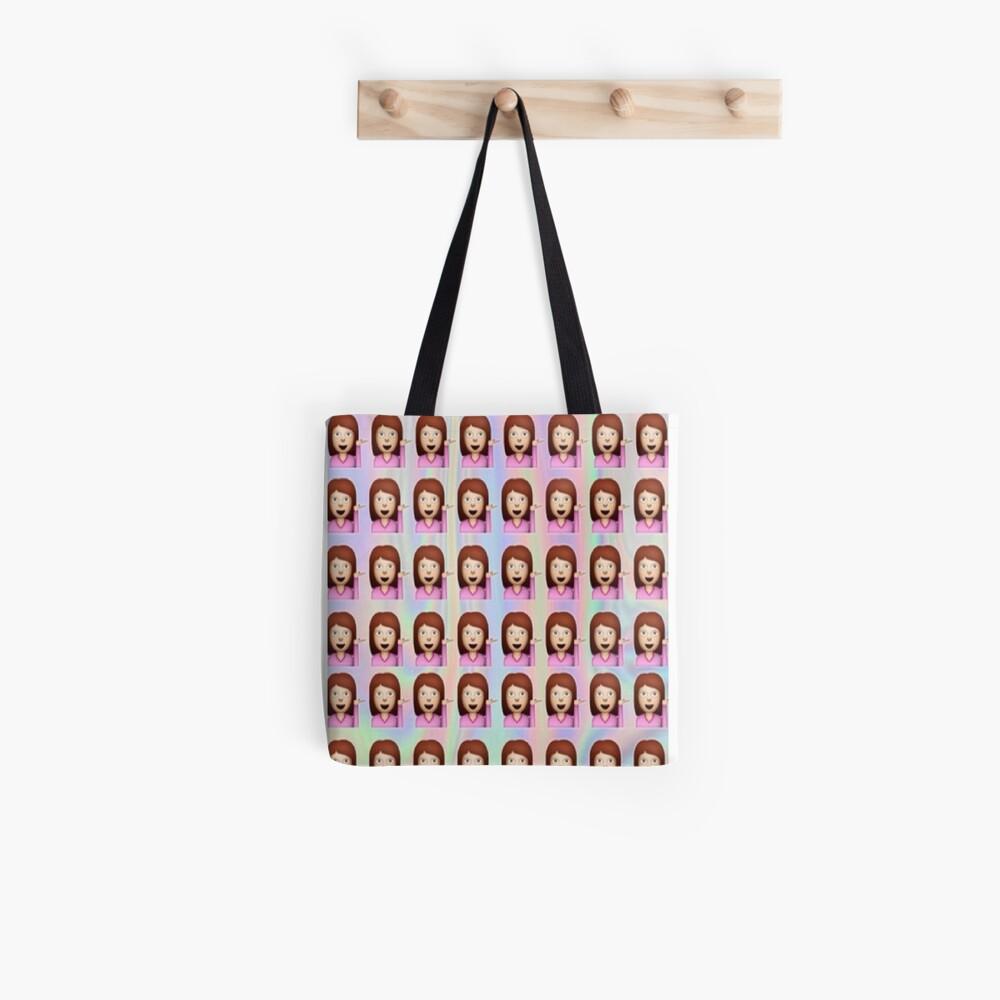 Sassy Frau Emoji Stofftasche