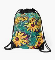 Black-Eyed Susan Drawstring Bag