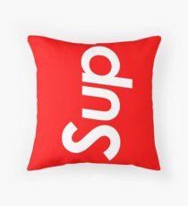 sup white Throw Pillow