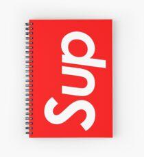sup white Spiral Notebook