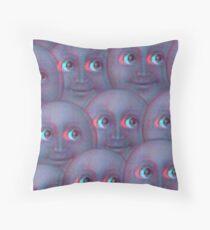 Moon Emoji - Fuzzy Throw Pillow