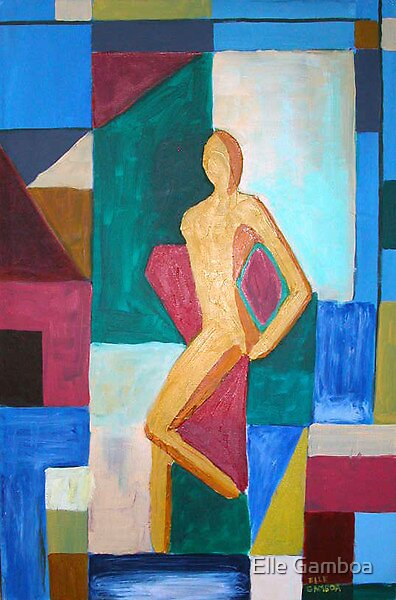 Abstract Woman -  Acrylic on Canvas by Elle Gamboa by Elle Gamboa