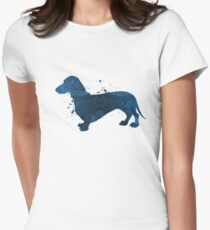A dachshund Women's Fitted T-Shirt
