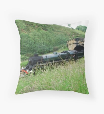 Pickering to Grosmont Steamer Throw Pillow