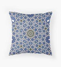 G Yesil Blue Throw Pillow