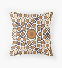 G Brown Popcorn Throw Pillow