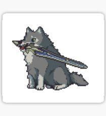 The Great Gray Pixel Wolf Sticker