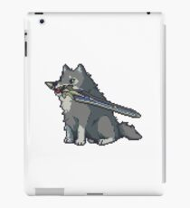 The Great Gray Pixel Wolf iPad Case/Skin