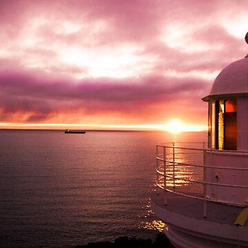 Lighthouse Sunrise by Wanderlustdrone