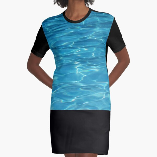Water Graphic T-Shirt Dress