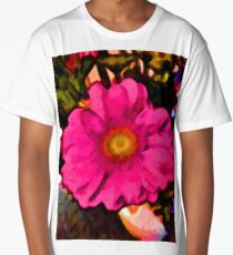 Pink and Yellow Flower with some Orange Long T-Shirt