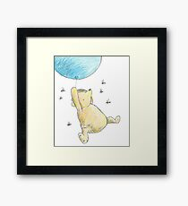 Classic Winnie the Pooh & Bees Sketch Framed Print