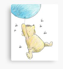 Classic Winnie the Pooh & Bees Sketch Canvas Print