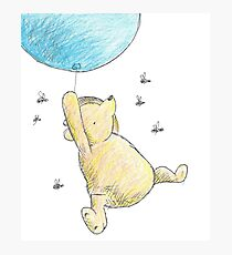 Classic Winnie the Pooh & Bees Sketch Photographic Print