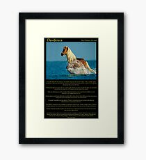 Desiderata with a Horse running thou the water Framed Print