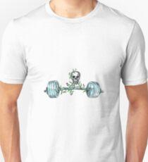 Skull Lifting Barbell Thistle Tattoo T-Shirt