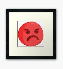 Angry Emoji Framed Print