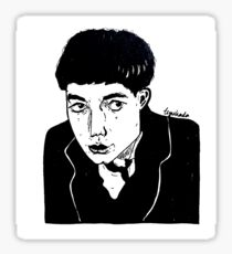 slightly happy credence Sticker