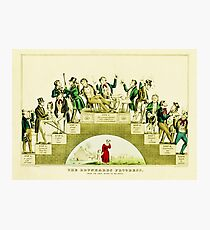 HD The Progress of the drunk (1846) Nathaniel Currier Photographic Print