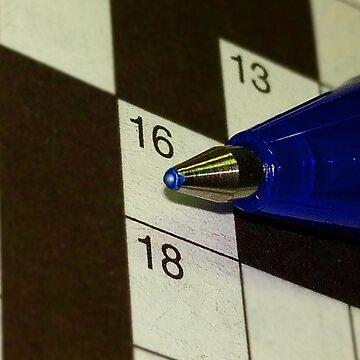 Crossword and Pen by figureofpeach